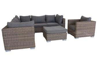 loungesæt i polyrattan