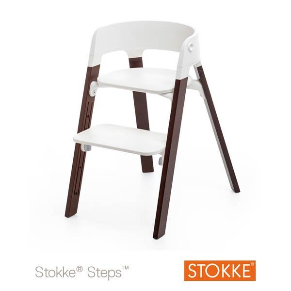 stokke steps højstol i valnød
