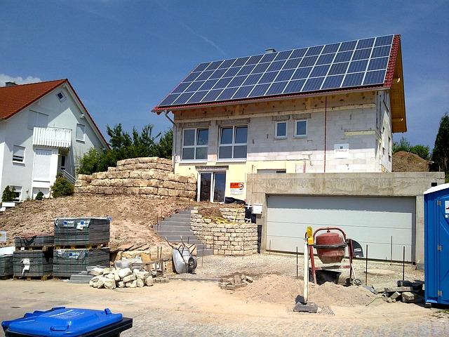 solpanel på tag