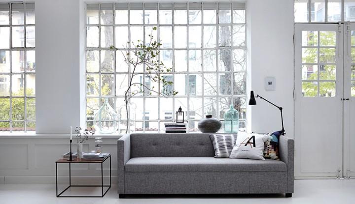 Lamper og tæpper fra house doctor gør stuen hyggeligere